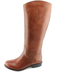 Corso Como - Geneva Wide Calf Women Round Toe Leather Black Knee High Boot - Lyst