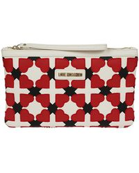 Love Moschino - Women's Red Leather Clutch - Lyst