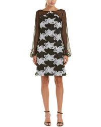 Kay Unger - Silk-trim Sheath Dress - Lyst