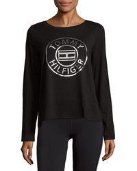 Tommy Hilfiger - Sport Boxy Logo Crop T-shirt - Lyst