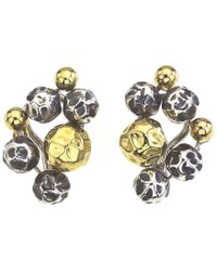Jewelista - Vaid Roma Oxidized Silver & 18k Gold Swirl Earrings - Lyst