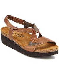 Naot - Caroline Leather Sandal - Lyst