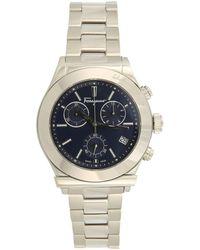 Ferragamo - 1898 Chr Spec Blue Watch, Model Fh6020016 - Lyst
