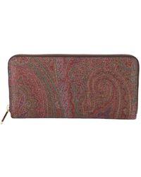Etro - Women's 0f4488007600 Multicolor Fabric Wallet - Lyst
