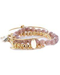 Guess - Women's Pink Metal Bracelet - Lyst