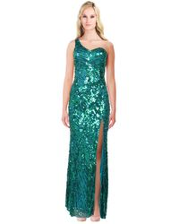 Mac Duggal - Sequined Cut Out Back Gown - Lyst