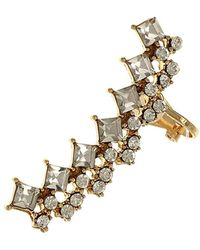 Sparkling Sage - 14k Plated Crystal Earring Climber - Lyst