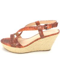 ef290202a97 Via Spiga - Womens Wendy Leather Open Toe Casual Espadrille Sandals - Lyst