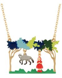 Les Nereides - Into The Woods Little Red Riding Hood And The Wolf In The Woods Necklace - Lyst