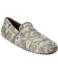Tod's - Gommino Canvas Loafer - Lyst