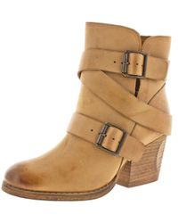 Naughty Monkey - Womens Cross My Heart Leather Strappy Ankle Boots - Lyst