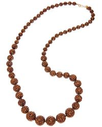 Kenneth Jay Lane - Plated Resin 36in Necklace - Lyst