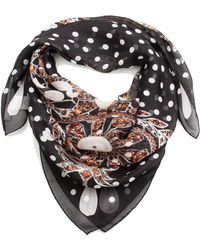 Givenchy - Women's Jeweled Pattern Silk Scarf - Lyst