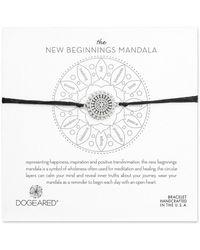 Dogeared - Mandala Collection Silver Adjustable Bracelet - Lyst