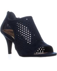 Style & Co. - Sc35 Helaine Perforated Caged Peep Toe Sandals, Navy - Lyst