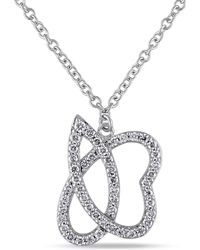 Julianna B - 1/2 Ct Diamond Tw Necklace With 14k White Gold Chain - Lyst