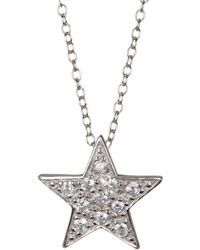 Adornia - Sterling Silver Star Necklace - Lyst