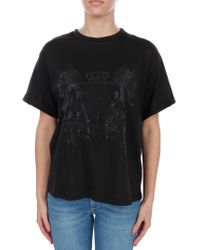 Elisabetta Franchi - Women's Black T-shirt - Lyst