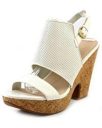 Naya - Misty Open-toe Leather Slingback Heel - Lyst