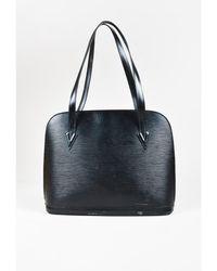 """Louis Vuitton - 1 Vintage Black """"epi"""" Leather """"lussac"""" Shoulder Bag - Lyst"""