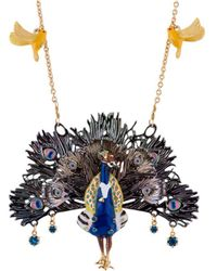 Les Nereides - Kind And Happy Leon The Peacock Spreading Its Tail Necklace - Lyst