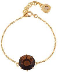 Les Nereides - La Diamantine Smoky Quartz Round Stone Bracelet - Lyst