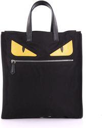 Fendi - Black Nylon 'bag Bugs' Tote - Lyst