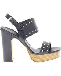 Janet & Janet - Women's Black Leather Sandals - Lyst