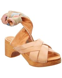 Free People - Emmy Wrap Leather Clog - Lyst
