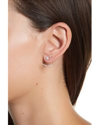 Adornia - Sterling Silver And Swarovski Crystal Star And Crescent Earring Jacket - Lyst