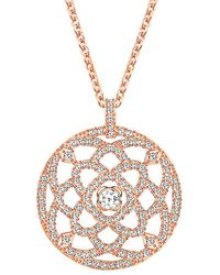 Swarovski - Crystal Daylight 18k Rose Gold Necklace - Lyst