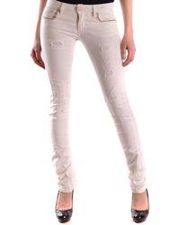 Pinko - Women's Mcbi242039o White Cotton Jeans - Lyst