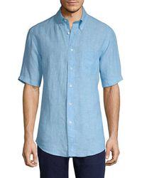 Brooks Brothers - Linen Short Sleeve Sport Shirt - Lyst