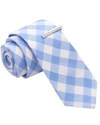 Skinny Tie Madness - Witness To Witney Gingham Plaid Skinny Tie With Tie Clip - Lyst