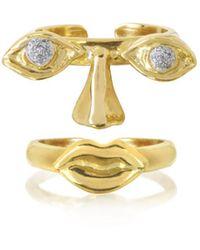 Bernard Delettrez - Women's Gold Gold Ring - Lyst