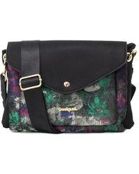 Desigual - Women's Black Polyester Shoulder Bag - Lyst