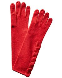 Forte - Ruffle Placket Gloves - Lyst