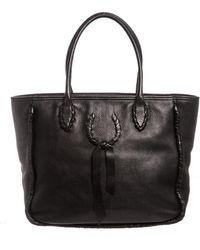 Nina Ricci - Black Pebbled Leather Tote Shoulder Bag - Lyst