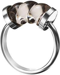 Baccarat - Torsade Silver Crystal Ring - Lyst