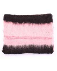 Dondup - Women's Black/pink Wool Scarf - Lyst