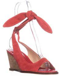 Bettye Muller - Playlist Wedge Back Tie Sandals, Coral - Lyst