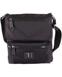 Trussardi - Men's Black Polyester Messenger Bag - Lyst