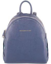 Trussardi - Women's Blue Polyurethane Backpack - Lyst