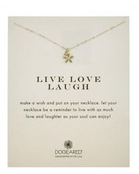 Dogeared - Silver Live Laugh Love Necklace - Lyst