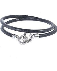 Eklexic - Men's Leather Cord Wrap Bracelet - Lyst