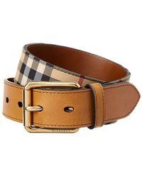 Burberry - Horseferry Check Belt - Lyst