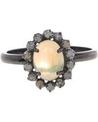 Adornia - Opal And White Diamond Genevieve Ring - Lyst