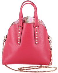 Trussardi - Women's Red Polyurethane Handbag - Lyst