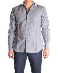 Etiqueta Negra - Men's Grey Cotton Shirt - Lyst