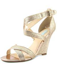 Betsey Johnson - Sb-cherl Women Open Toe Synthetic Gold Sandals - Lyst